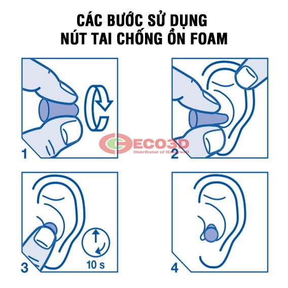 hướng dẫn sử dụng nút tai chống ồn PU